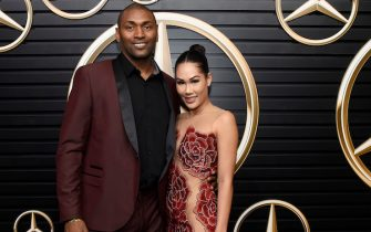 LOS ANGELES, CALIFORNIA - FEBRUARY 09: (L-R) Metta World Peace and Maya Ford attend the Mercedes-Benz Academy Awards Viewing Party at The Four Seasons Hotel Los Angeles at Beverly Hills on February 09, 2020 in Los Angeles, California. (Photo by Vivien Killilea/Getty Images for Mercedes-Benz)
