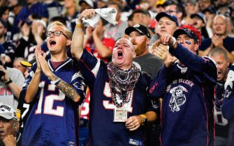 FOXBOROUGH, MASSACHUSETTS - SEPTEMBER 08: Fans during the game between the New England Patriots and the Pittsburgh Steelers at Gillette Stadium on September 08, 2019 in Foxborough, Massachusetts. (Photo by Kathryn Riley/Getty Images)