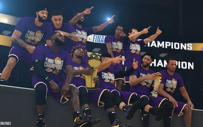 Lakers campioni contro i Bucks… in NBA 2K