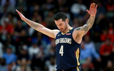 NEW ORLEANS, LOUISIANA - JANUARY 24: JJ Redick #4 of the New Orleans Pelicans stands on the court during a NBA game against the Denver Nuggets at Smoothie King Center on January 24, 2020 in New Orleans, Louisiana. NOTE TO USER: User expressly acknowledges and agrees that, by downloading and or using this photograph, User is consenting to the terms and conditions of the Getty Images License Agreement. (Photo by Sean Gardner/Getty Images)