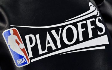SALT LAKE CITY, UT - MAY 8: The NBA Playoff logo seat covering, on the Utah Jazz team's chairs, before their game against the Golden State Warriors in Game Four of the Western Conference Semifinals during the 2017 NBA Playoffs at Vivint Smart Home Arena on May 8, 2017 in Salt Lake City, Utah. NOTE TO USER: User expressly acknowledges and agrees that, by downloading and or using this photograph, User is consenting to the terms and conditions of the Getty Images License Agreement. (Photo by Gene Sweeney Jr/Getty Images)