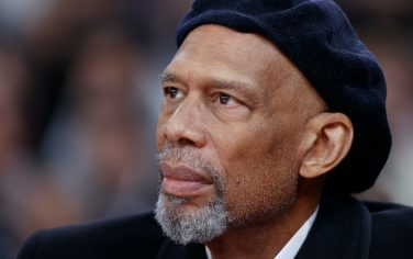 PARIS, FRANCE - JANUARY 24: A close up shot of NBA Legend, Kareem Abdul-Jabbar during the Milwaukee Bucks game against the Charlotte Hornets as part of NBA Paris Games 2020 on January 24, 2020 in Paris, France at the AccorHotels Arena. NOTE TO USER: User expressly acknowledges and agrees that, by downloading and/or using this Photograph, user is consenting to the terms and conditions of the Getty Images License Agreement. Mandatory Copyright Notice: Copyright 2020 NBAE (Photo by Catherine Steenkeste/NBAE via Getty Images)