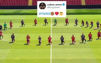 Liverpool in ginocchio per Floyd: il tweet di LBJ