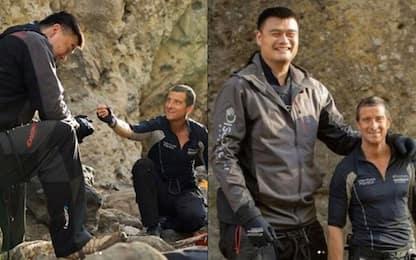 Yao Ming, il gigante cinese incontra Bear Grylls