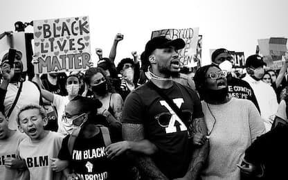 Lillard in strada a manifestare per Floyd. VIDEO