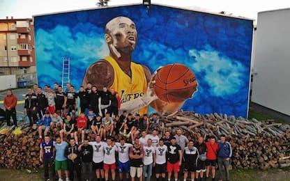 Il murales per Kobe più grande d'Europa. FOTO