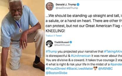 """Bill Russell risponde a Trump: """"Sei un codardo"""""""