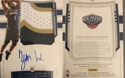 Zion Williamson, 100.000$ per una card da rookie