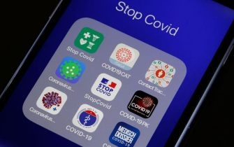 PARIS, FRANCE - JUNE 03: In this photo illustration, the French mobile phone application StopCovid, developed to trace people who test positive with the Coronavirus (COVID-19) is displayed on the screen of a smartphone on June 03, 2020 in Paris, France. The application by the French government, deployed on Tuesday, should help to fight against the Covid-19 pandemic in France by identifying contact cases and warning people who have been in close contact to people diagnosed positive for Covid -19. Its detractors nonetheless denounce a device that is dangerous for public liberties. The Coronavirus (COVID-19) pandemic has spread to many countries across the world, claiming over 380,000 lives and infecting over 6,4 million people. (Photo by Chesnot/Getty Images)
