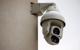 An Avigilon CCTV camera is seen on a wall in King's Cross, London on August 16, 2019. - The Information Commissioner's Office announced it would launch its own investigation into the use of facial recognition cameras after it was revealed scanners were being used in the King's Cross area of London. (Photo by Tolga Akmen / AFP)        (Photo credit should read TOLGA AKMEN/AFP via Getty Images)