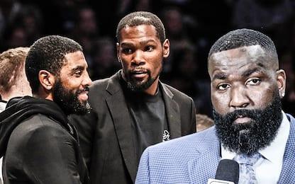 Durant difende Irving dagli attacchi di Perkins
