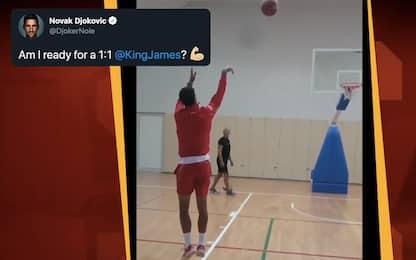 Djokovic sfida LeBron: King James lo esalta. VIDEO