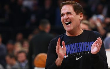NEW YORK, NEW YORK - NOVEMBER 14:  Mark Cuban, owner of the Dallas Mavericks looks on prior to the start of the game against the New York Knicks at Madison Square Garden on November 14, 2019 in New York City. NOTE TO USER: User expressly acknowledges and agrees that, by downloading and or using this photograph, User is consenting to the terms and conditions of the Getty Images License Agreement. (Photo by Mike Stobe/Getty Images)