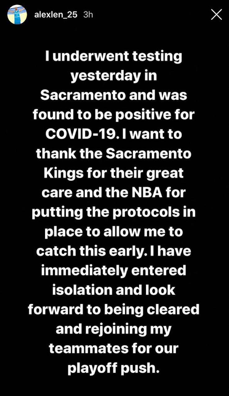 La Instagram story di Alex Len