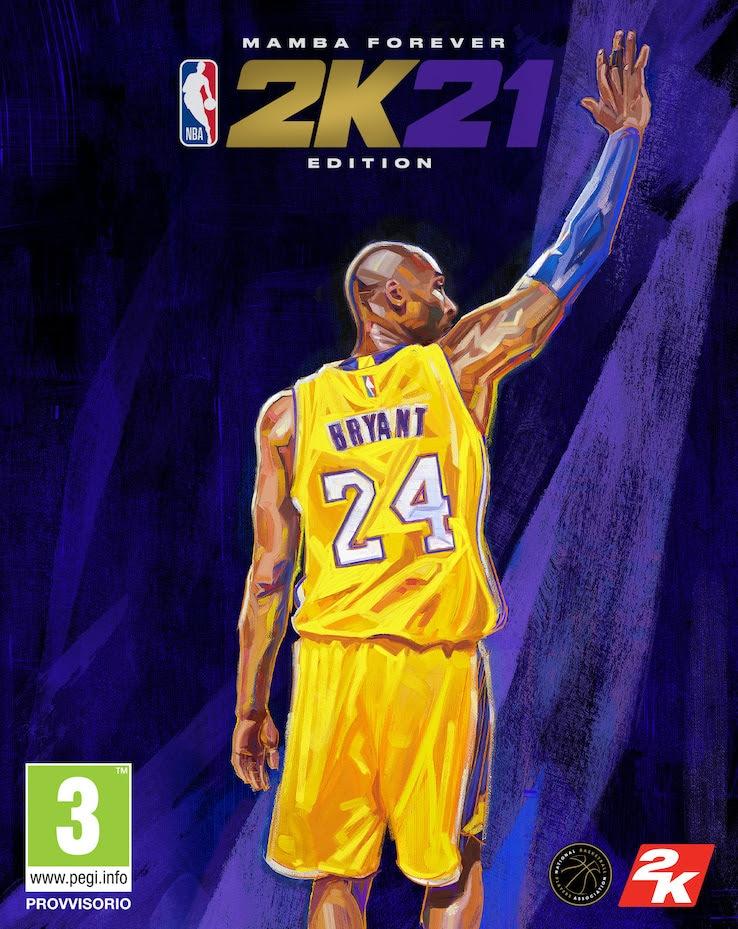 La cover di NBA 2K21 con Kobe Bryant per PS5 e Series X