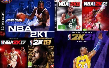 NBA 2K, tutte le cover della storia. FOTO
