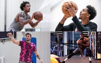 La NBA torna al lavoro: le foto degli allenamenti