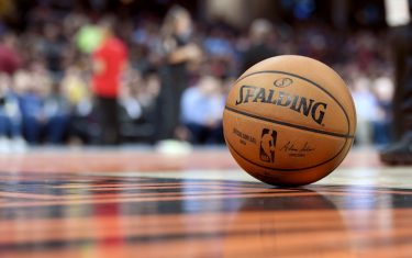 CLEVELAND, OHIO - JANUARY 28: An official Spalding NBA game ball sits on the court during the second half of the game between the Cleveland Cavaliers and the New Orleans Pelicans at Rocket Mortgage Fieldhouse on January 28, 2020 in Cleveland, Ohio. The Pelicans defeated the Cavaliers 125-111. NOTE TO USER: User expressly acknowledges and agrees that, by downloading and/or using this photograph, user is consenting to the terms and conditions of the Getty Images License Agreement. (Photo by Jason Miller/Getty Images)