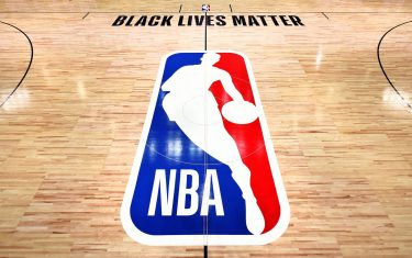 ORLANDO, FL - JULY 7: A general overall view of the court with Black Lives Matter wording as part of the NBA Restart 2020 on July 7, 2020 at The Arena at ESPN Wide World of Sports in Orlando, Florida. NOTE TO USER: User expressly acknowledges and agrees that, by downloading and/or using this photograph, user is consenting to the terms and conditions of the Getty Images License Agreement.  Mandatory Copyright Notice: Copyright 2020 NBAE (Photo by David Dow/NBAE via Getty Images)