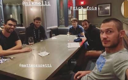 La cena italiana nella bolla di Orlando. FOTO