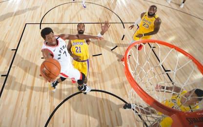 Lowry punisce i Lakers, Warren pazzesco: 53 punti!
