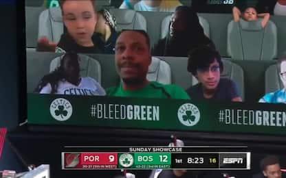 Boston, sugli spalti Pierce e il figlio di Tatum
