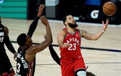 Super VanVleet da 36 punti, Toronto supera Miami