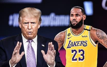 """LeBron: """"Chi se ne frega se Trump non ci guarda"""""""