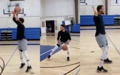 Curry: l'imitazione di Embiid è perfetta. VIDEO