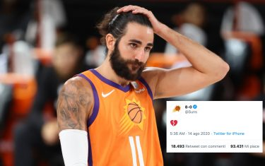Orlando, FL - AUGUST 13: Ricky Rubio #11 of the Phoenix Suns looks on during the game against the Dallas Mavericks on August 13, 2020 at AdventHealth Arena in Orlando, Florida. NOTE TO USER: User expressly acknowledges and agrees that, by downloading and/or using this Photograph, user is consenting to the terms and conditions of the Getty Images License Agreement. Mandatory Copyright Notice: Copyright 2020 NBAE (Photo by David Sherman/NBAE via Getty Images)