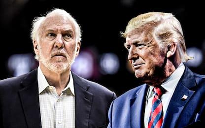 Spurs fuori dai playoff: Popovich imita Trump
