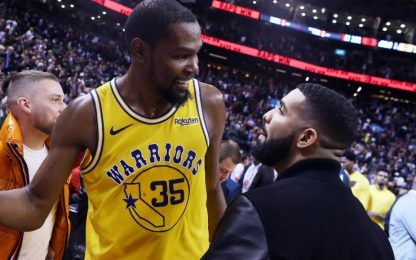 Durant torna in campo, ma in un video di Drake