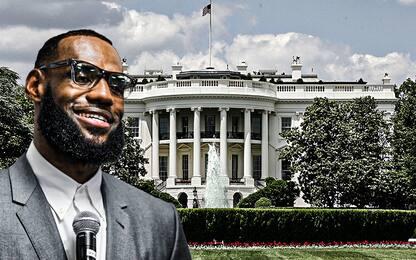 """LeBron alla Casa Bianca? """"Porto vino e tequila"""""""