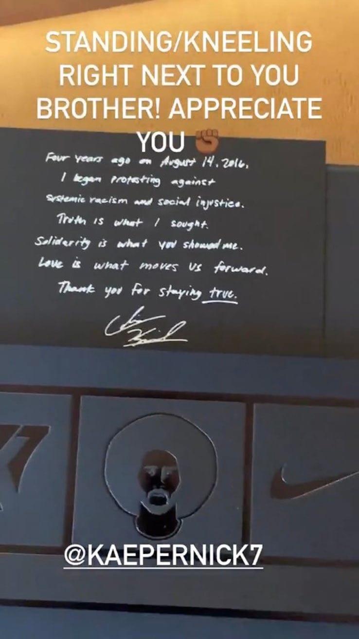 Il messaggio di Kaepernick a LeBron James