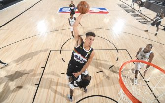 ORLANDO, FL - SEPTEMBER 7: Michael Porter Jr. #1 of the Denver Nuggets dunks the ball against the LA Clippers during Game Three of the Western Conference SemiFinals of the NBA Playoffs on September 7, 2020 at AdventHealth Arena in Orlando, Florida. NOTE TO USER: User expressly acknowledges and agrees that, by downloading and/or using this Photograph, user is consenting to the terms and conditions of the Getty Images License Agreement. Mandatory Copyright Notice: Copyright 2020 NBAE (Photo by Andrew D. Bernstein/NBAE via Getty Images)