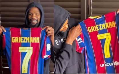 Griezmann cambia numero: ad annunciarlo è Durant