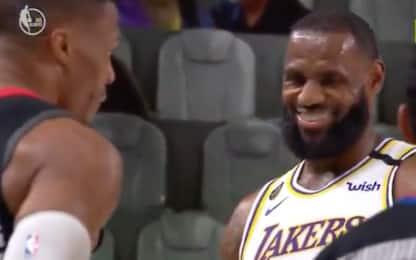 Westbrook fa trash talking con LeBron: la reazione