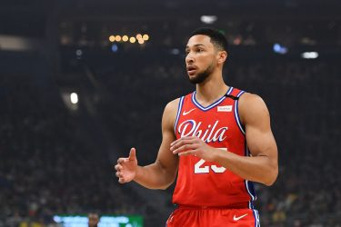 MILWAUKEE, WISCONSIN - FEBRUARY 22:  Ben Simmons #25 of the Philadelphia 76ers waits for a pass during the first half of a game against the Milwaukee Bucks at Fiserv Forum on February 22, 2020 in Milwaukee, Wisconsin. NOTE TO USER: User expressly acknowledges and agrees that, by downloading and or using this photograph, User is consenting to the terms and conditions of the Getty Images License Agreement.  (Photo by Stacy Revere/Getty Images)