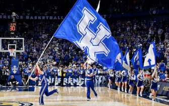 during the SEC Basketball Tournament Championship at Bridgestone Arena on March 13, 2016 in Nashville, Tennessee. Kentucky defeated Texas A&M 82-77 in overtime.