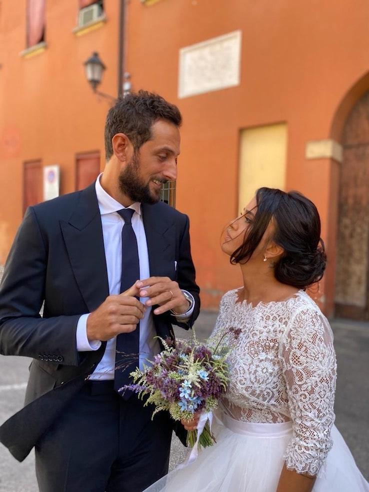 Uno scatto del matrimonio tra Marco e Martina