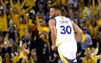 in Game 2 of the 2017 NBA Finals at ORACLE Arena on June 4, 2017 in Oakland, California. NOTE TO USER: User expressly acknowledges and agrees that, by downloading and or using this photograph, User is consenting to the terms and conditions of the Getty Images License Agreement.