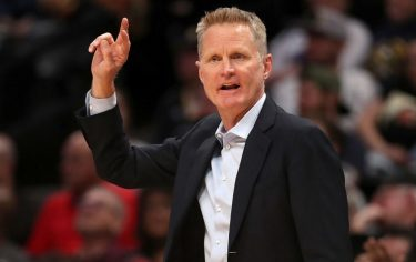 DENVER, COLORADO - MARCH 03: Head coach Steve Kerr of the Golden State Warriors works the sidelines against the Denver Nuggets in the fourth quarter at the Pepsi Center on March 03, 2020 in Denver, Colorado. NOTE TO USER: User expressly acknowledges and agrees that, by downloading and or using this photograph, User is consenting to the terms and conditions of the Getty Images License Agreement. ( (Photo by Matthew Stockman/Getty Images)