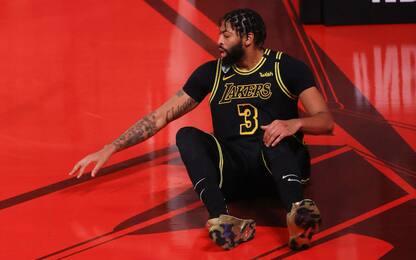 Davis, l'infortunio al tallone preoccupa i Lakers