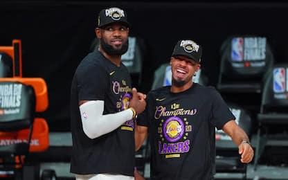 Cook lascia i Lakers: il roster dei campioni NBA