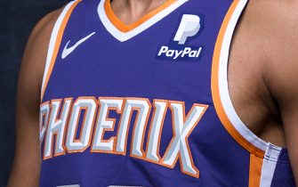 MADISON, NJ - AUGUST 11: Cameron Johnson #23 of the Phoenix Suns poses for a portrait during the 2019 NBA Rookie Photo Shoot on August 11, 2019 at Fairleigh Dickinson University in Madison, New Jersey. NOTE TO USER: User expressly acknowledges and agrees that, by downloading and or using this photograph, User is consenting to the terms and conditions of the Getty Images License Agreement. Mandatory Copyright Notice: Copyright 2019 NBAE (Photo by Steve Freeman/NBAE via Getty Images)