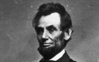 Portrait of President Abraham Lincoln, circa 1860s. (Photo by Fotosearch/Getty Images).
