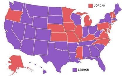 Gli USA si dividono: meglio Jordan o LeBron? FOTO