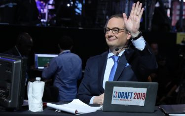 BROOKLYN, NY - JUNE 20: Reporter Adrien Wojnarowski attends the 2019 NBA Draft on June 20, 2019 at Barclays Center in Brooklyn, New York. NOTE TO USER: User expressly acknowledges and agrees that, by downloading and or using this photograph, User is consenting to the terms and conditions of the Getty Images License Agreement. Mandatory Copyright Notice: Copyright 2019 NBAE (Photo by Nathaniel S. Butler/NBAE via Getty Images)