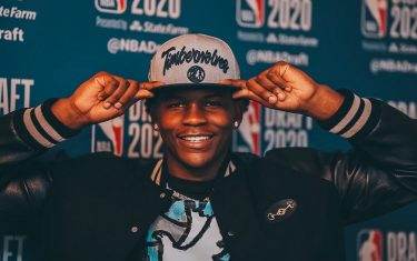 BRISTOL, CT - NOVEMBER 18: The number one overall pick by the Minnesota Timberwolves, Anthony Edwards poses for a photo with his draft hat during the 2020 NBA Draft on November 18, 2020. NOTE TO USER: User expressly acknowledges and agrees that, by downloading and/or using this photograph, user is consenting to the terms and conditions of the Getty Images License Agreement. Mandatory Copyright Notice: Copyright 2020 NBAE (Photo by Courtesy of Anthony Edwards/NBAE via Getty Images)