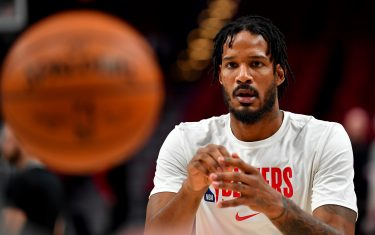 PORTLAND, OREGON - MARCH 10: Trevor Ariza #8 of the Portland Trail Blazers warms up before the game against the Phoenix Suns at the Moda Center on March 10, 2020 in Portland, Oregon. The Portland Trail Blazers topped the Phoenix Suns, 121-105. NOTE TO USER: User expressly acknowledges and agrees that, by downloading and or using this photograph, User is consenting to the terms and conditions of the Getty Images License Agreement. (Photo by Alika Jenner/Getty Images)